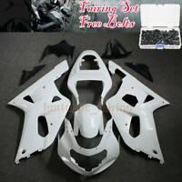 Unpainted ABS Fairing Kit For Suzuki GSXR600/750 2001-2003 02 K1 Bodywork +Bolts