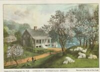 """Vintage Currier Ives Lithographs American Homestead Set of 4 Seasons 5"""" x 7"""""""