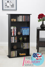 Media Storage Cabinet CDs, DVDs, Blue-Ray, Video Games, Adjustable Shelves Rack