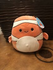 """Squishmallows-Ricky the Clownfish-8""""-NWT"""