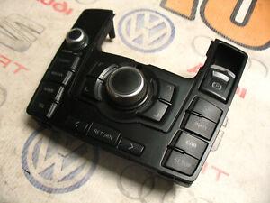 AUDI A6 C6 MMI CONTROL PANEL SATNAV RADIO SWITCH BLACK RHD 4F2919611H 4F0910609E