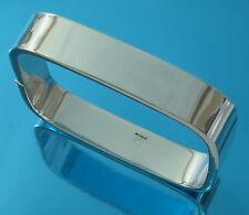 Solid 925 Sterling Silver Square Bangle Bracelet Plain 12 mm wide UKHallmarked