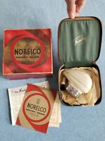 Norelco Vintage Electric Shaver Leather Case Original Box Manuel papers No cord