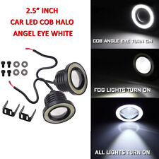 "2X 2.5"" Inch Car Auto Projector LED Fog Light COB Halo Angel Eye Ring Bulb White"
