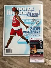 Zion Williamson Signed Sports Illustrated Kids Duke Blue Devils JSA COA RARE
