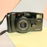 Chinon Auto 3501 Compact 35mm Film Camera + Strap & Case! NO FLASH! Retro Lomo