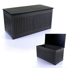 More details for 270l outdoor garden storage box plastic utility chest cushions toys furniture