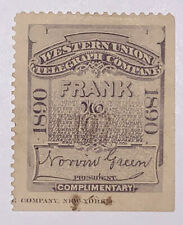 Travelstamps: 1890 US Telegraph Stamps Scott #16T20  Used NG