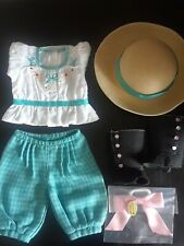 American Girl Doll Samantha Bicycling Riding Outfit Hat top pants bow