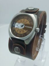 Fossil Authentic JR9319 men's watch jump hour vintage look leather JR-9319 5ATM