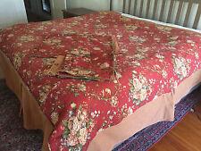 Bob Timberlake Queen 6 Pc Bedding Set Duvet Shams Bed Skirt Cozy Cabin Floral