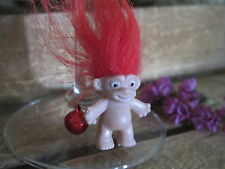 Wild Bright Red Hair Lucky Troll Wine Charm Quirky Novelty 80's Party Bizarre