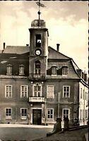 Wurzen Sachsen alte DDR Ansichtskarte 1957 Straßenpartie am Rathaus Glockenturm