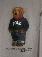 Polo Ralph Lauren LIMITED EDITION Polo Bear Tshirt NWT Sweater Bear Grey Heather