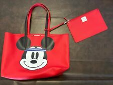 Disney x Lacoste collaboration Mickey Mouse Tote bag Red