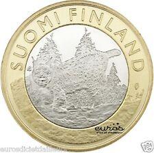 Pièce 5 euros commémorative FINLANDE 2015 - Animals  - Tavastia - Le Lynx