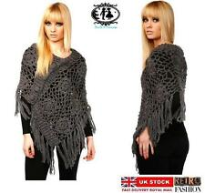 V Neck Long Sleeve Poncho Jumpers & Cardigans for Women