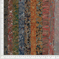 Hand Marbled Paper Set of 10, 13x48cm 5x19in Bookbinding Restoration