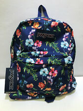 NEW! JANSPORT SUPERBREAK NAVY FLORAL MOUNTAIN MEADOW SCHOOL TRAVEL BACKPACK BAG