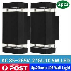 2X Modern LED Wall Light waterproof in/Outdoor Wall light Up/Down Lamp Light AU