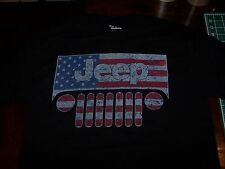 JEEP AMERICAN FLAG T-SHIRT MILITARY PATRIOTIC WRANGLER TJ JK JKU XL SIZE