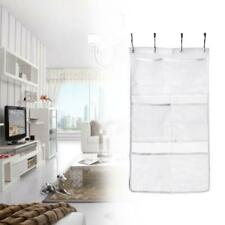 6 Grids Bathroom Wall Closet Hanging Storage Organizer Toys Container Pocket New