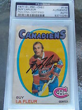 GUY LAFLEUR CANADIENS HAND SIGNED 1971 O-PEE-CHEE ROOKIE PSA ENCAPSULATED