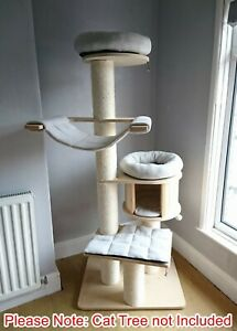 Handmade SILVER GREY Removable Cat Bed Replacement Set for Natural Paradise XL