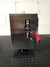GE THN3361SS 30 Amp, 600 V. AC STAINLESS STEEL NEMA 4X HD SAFETY SWITCH