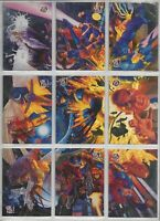 X-Men Fleer Set Ultra (1994) Limited Edition Subset 9-card Team Portrait