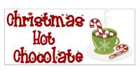 12 x Christmas Hot Chocolate Mug Sticker Label Gift Present Homemade