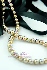 84pcs Beads-10mm Gold Color Imitation Acrylic Round Loose Pearl Spacer