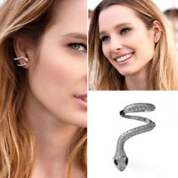 Gothic Punk Snake Cartilage Ear Cuff Clip Wrap Stud Earrings Piercing Jewelry