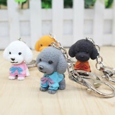Cartoon Cute Dogs Keychains Pendant Key Rings Women Bag Car Metal Key Chain  WU