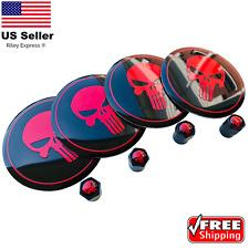 Punisher Tire Valve Caps Stem Amp Wheel Center Hub Cap Sticker Decal 22 Bundle