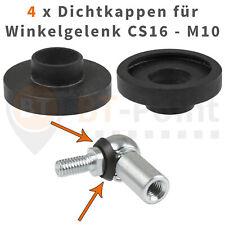 4 Dichtkappen für Winkelgelenk CS16 M10 DIN 71802 Neopren Dichtung Kugelgelenk
