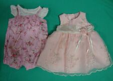 The Children Place 2 Pc Jumper and La Princess Pink Floral Nylon Dress SZ 3-6 m