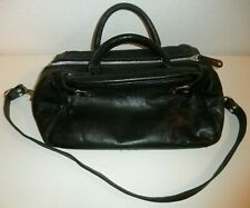 Designed By MADONNA AND H&M / LEATHER BLACK TOTE BAG Hennes & Mauritz
