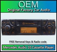Mercedes SL Audio 10 Cassette tape player, Merc R129 car stereo + radio code