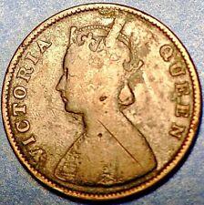 1862 India British 1/2 Anna  Victoria KM# 468 (11G)