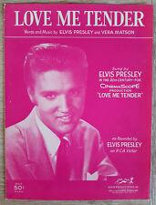 ELVIS PRESLEY LOVE ME TENDER   ORIGINAL SHEET MUSIC USA