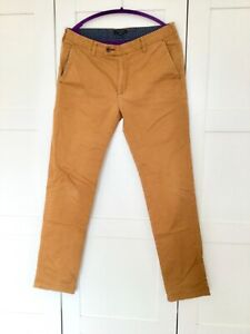 Ted Baker mens camel colour chino trousers