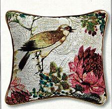 Graceful Birds w/Florals Tapestry Toss Pillow