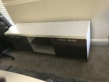 White and brown TV Stand
