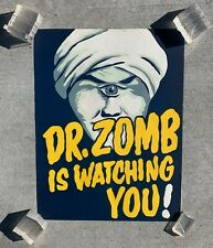 Dr Zomb Original Vintage Ormond McGill Hypnosis Mentalism Magic Poster