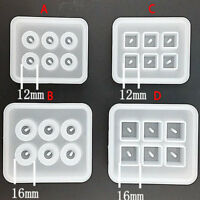 6 Grid Silicone Bead Mold Resin Jewellery Making Pendant Mould Craft Tools DIY