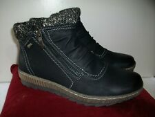 New Women's Spring Step Cleora Ankle Boots Black Dual Zipper 42M US 10.5-11