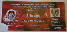 Ticket for collectors EL Lokomotiv Sofia Slask Wroclaw 2011 Bulgaria Poland