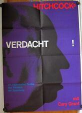 VERDACHT (Plakat '61) - Atlas / CARY GRANT / ALFRED HITCHCOCK