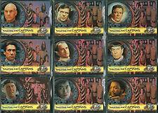 STAR TREK CINEMA 2000 SET OF 9 SALUTING THE CAPTAINS CARDS SC1-SC9